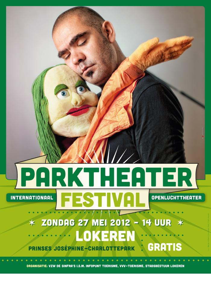 Parktheaterfestival 2012 affiche ontwerp groen
