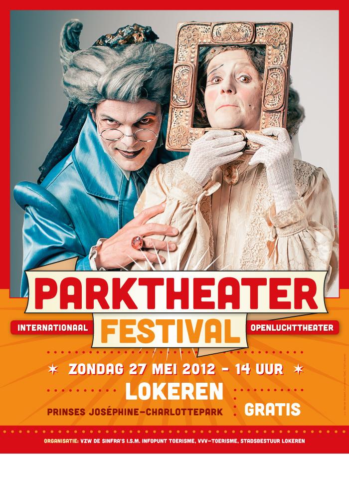 Parktheaterfestival 2012 affiche ontwerp rood