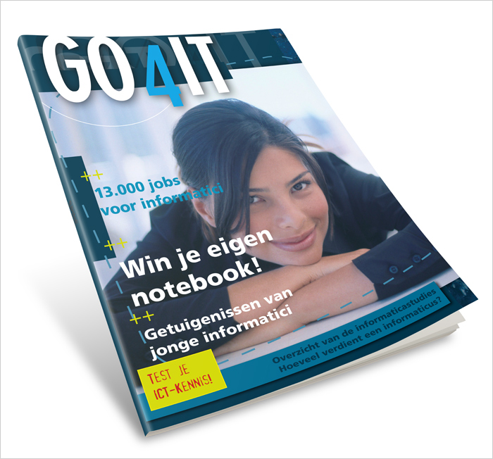 Go4IT magazine design - cover