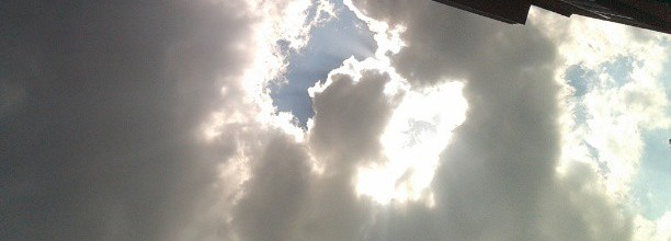 Clouds, windows, summer, late afternoon