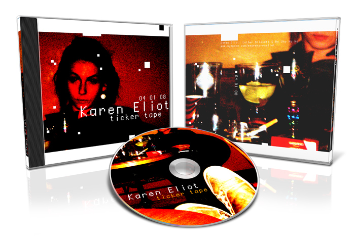 CD artwork - presentations - Karen Eliot - Ticker Tape - ©Bert Vanden Berghe 2008