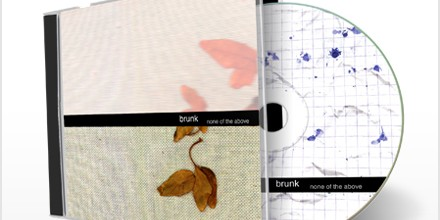 CD artwork: brunk – none of the above