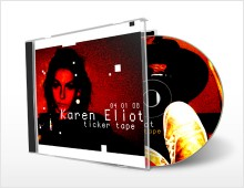 CD artwork: Karen Eliot – ticker tape
