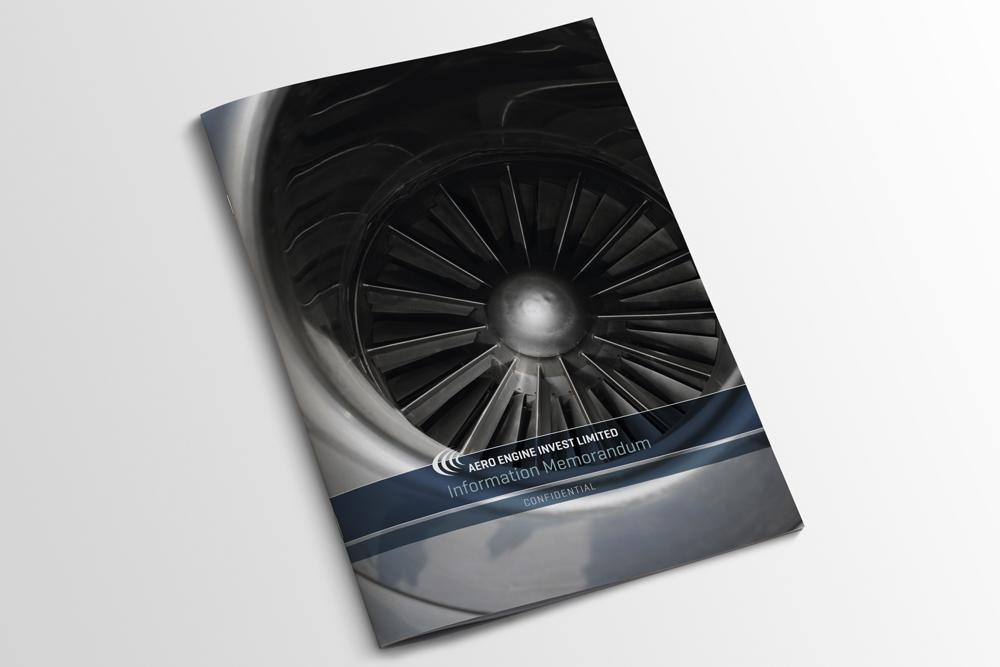Aero Invest brochure design by Bert Vanden Berghe - cover