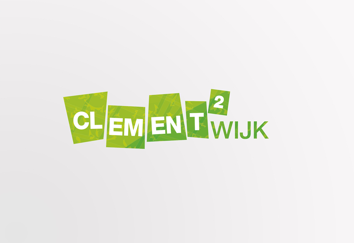 Clementwijk logo + housestyle by Bert Vanden Berghe for Graffito nv