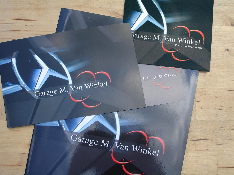 Graphic design for garage M. Van Winkel by Bert Vanden Berghe (for Graffito.be)