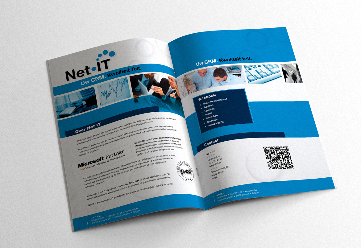 Net IT logo redesign + housestyle - folder design by Bert Vanden Berghe