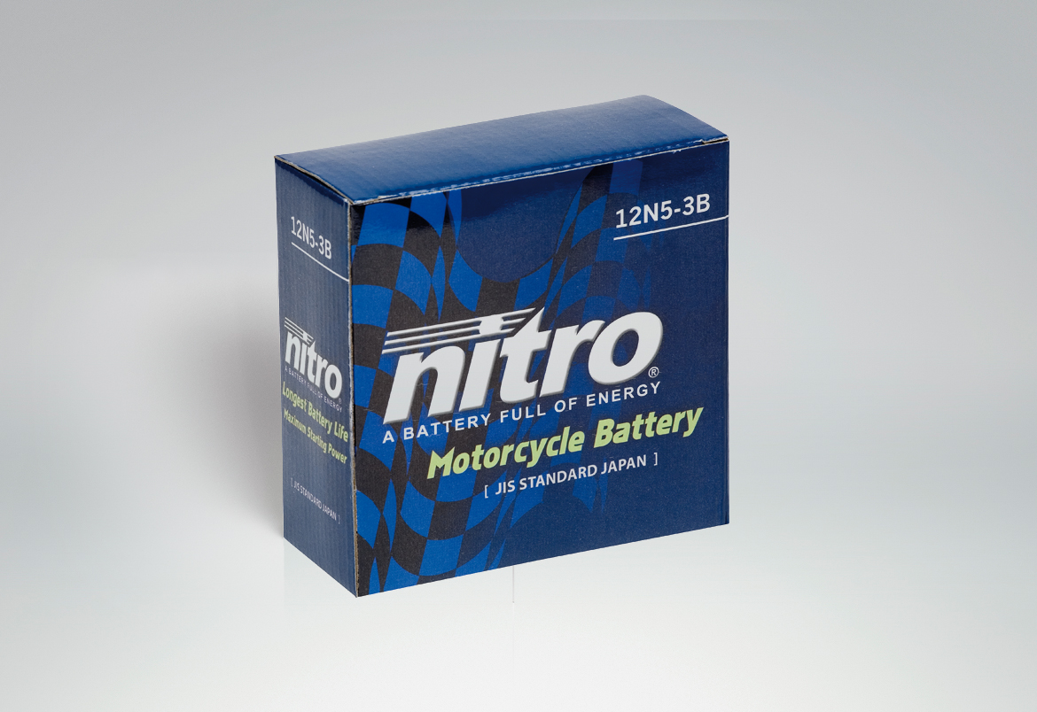 Nitro packaging - design by Bert Vanden Berghe for Graffito nv