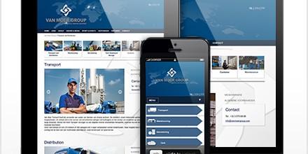 Van Moer Group responsive website