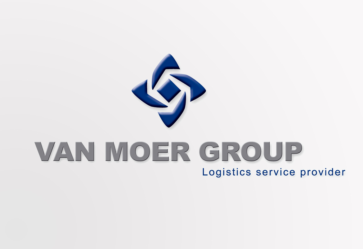 Van Moer Group logo & housestyle design by Bert Vanden Berghe for Graffito nv.