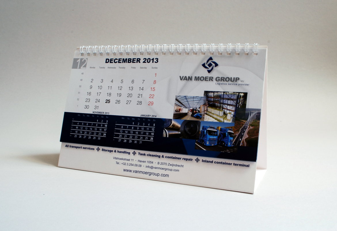 Van Moer Group kalender design by Bert Vanden Berghe for Graffito nv