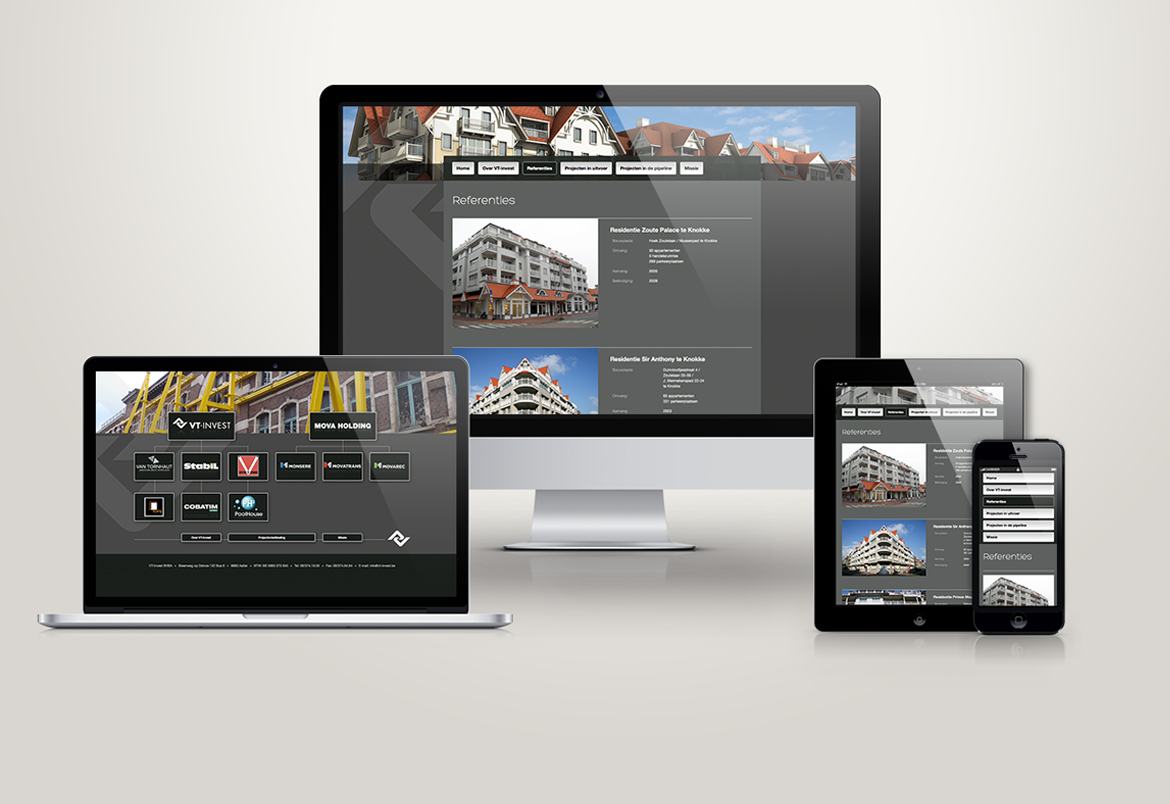 vt-invest responsive webdesign by Bert Vanden Berghe for Graffito nv 2014