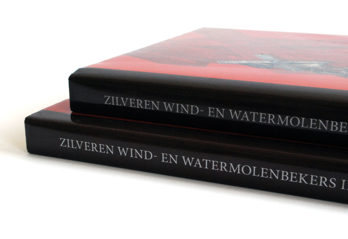 Boek Zilveren wind- en watermolenbekers cover design by Bert Vanden Berghe for Graffito nv