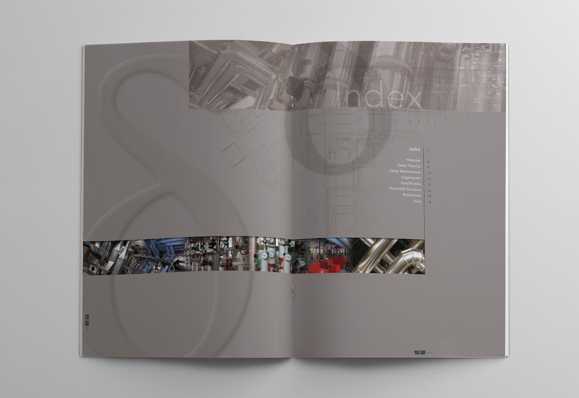 Delta Thermic + Delta Group brochure design by Bert Vanden Berghe for Graffito nv - spread 3