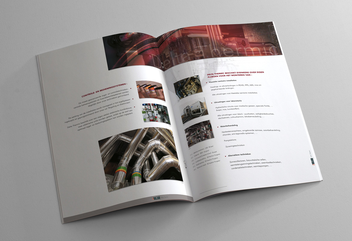 Delta Thermic + Delta Group brochure design by Bert Vanden Berghe for Graffito nv - spread 4