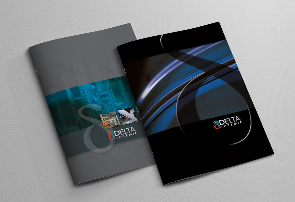 Delta Thermic + Delta Group brochure design by Bert Vanden Berghe for Graffito nv - covers