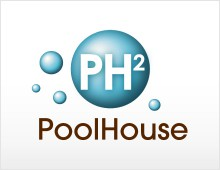 PoolHouse logo & print design