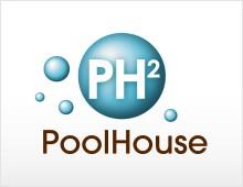 PoolHouse logo & print design